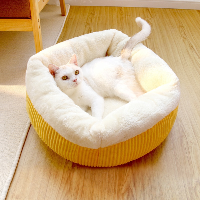 HEYPET cama larga para gato de peluche, casa para mascotas, felpudo suave, cama para perros pequeños, gatos, cama caliente para dormir, alfombrilla para cachorros, suministros para gatos