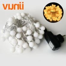 10 M 100 LED s Mini boule Global LED ficelle lumière EU 220 V scintillant 8 Modes changement imperméable fée lumières pour mariage/fête/jardin