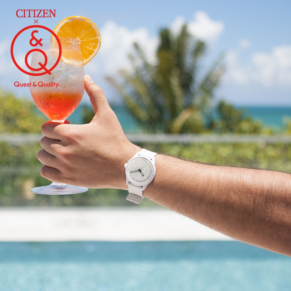 Citizen Q&Q ووتش الرجال مجموعة أعلى الفاخرة العلامة التجارية للماء الرياضة الكوارتز الشمسية الرجال ووتش محايد ووتش Relogio Masculino reloj hombre erkek kol saati 0J001Y