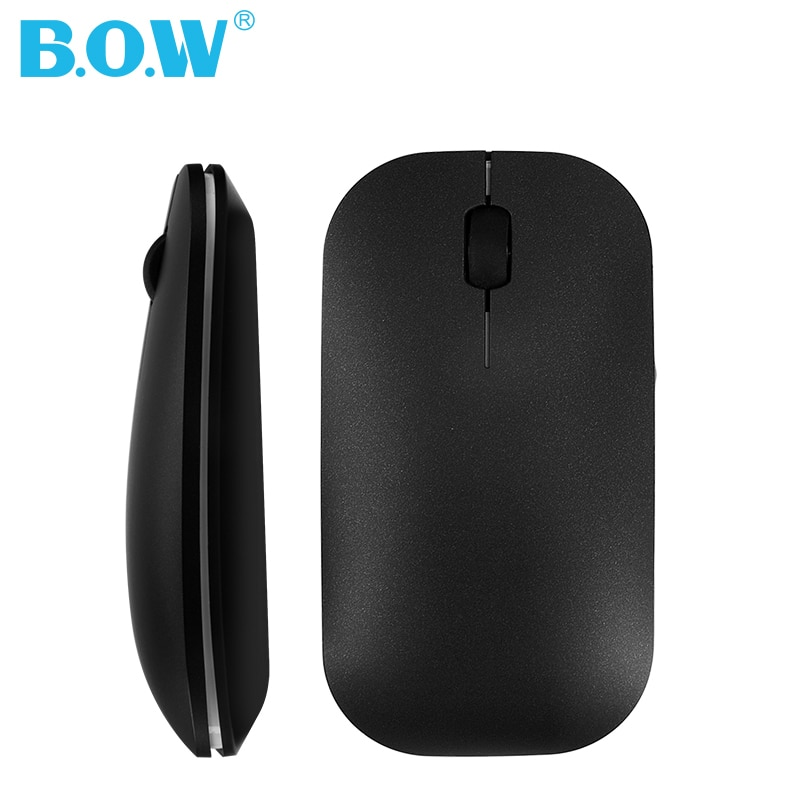 B.O.W 2.4Ghz Wireless Mouse Small,  Ultra-thin and Slim Silent Rechargeable Optical Mice USB, Light to Carry or Relax your Hand enlarge