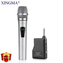 Micro sans fil professionnel dynamique VHF métal portable micro pour karaoké ordinateur PC chantant KTV avec récepteur XINGMA PC-K3