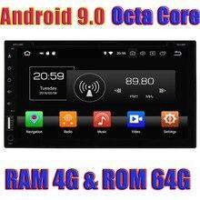 Wanhabituel-lecteur dunité de tête de voiture   Android 9.0, unité de système PC pour la Navigation GPS universelle, Doble Din, Teyp automobile sans DVD