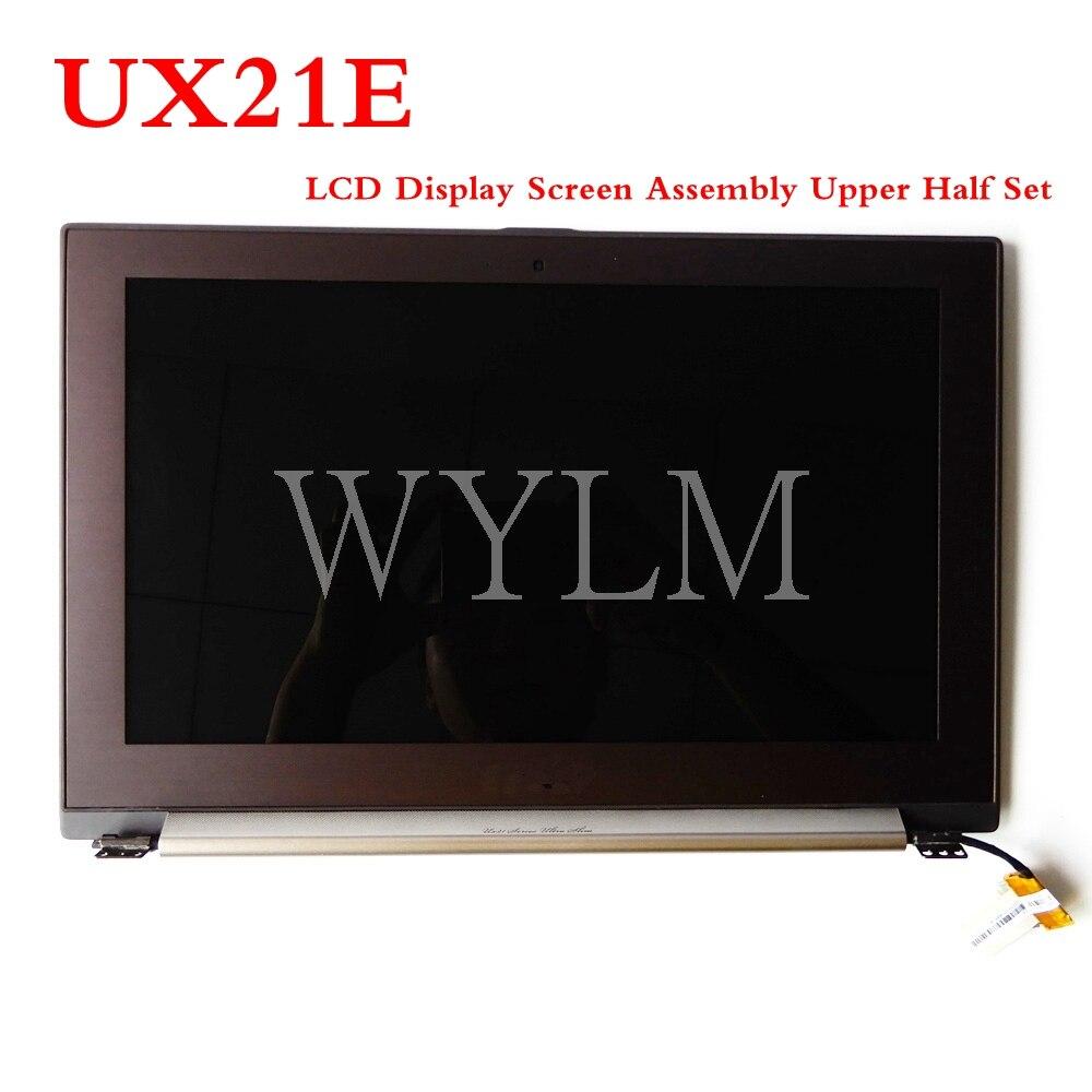 UX21E LCD pantalla de visualización conjunto de la mitad superior para Asus UX21E portátil LCD digitalizador pantalla con marco probado trabajo