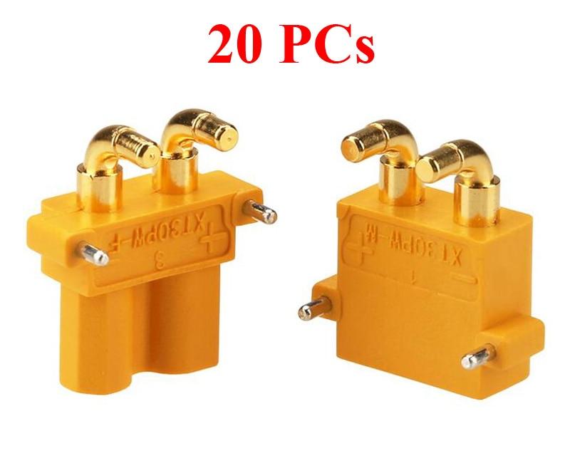 20 piezas XT30PW PCB dedicado conector Horizontal macho/hembra 2mm Banana Head Amass XT30 enchufes para FPV DIY piezas de control remoto