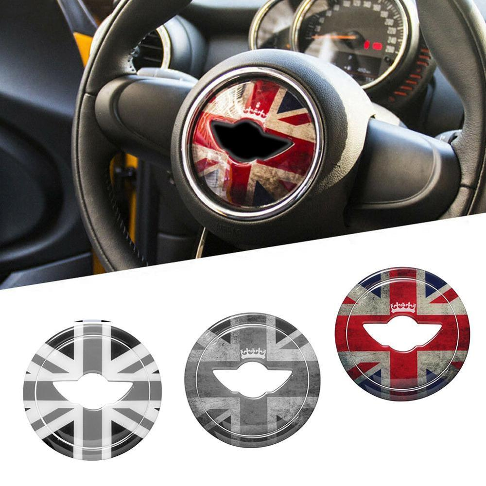 Union Jack, pegatina en el centro del volante 3D, pegatina decorativa para BMW MINI Cooper JCW F55 F56, nuevo estilo de coche Countryman