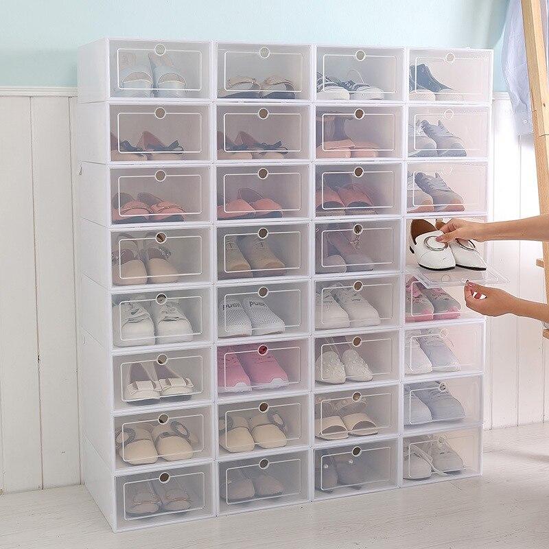 Caja de zapatos plegable, caja de almacenamiento transparente para zapatos, cajón organizador, DIY caja de zapatos para el hogar, cajón divisor, almacenamiento para el hogar