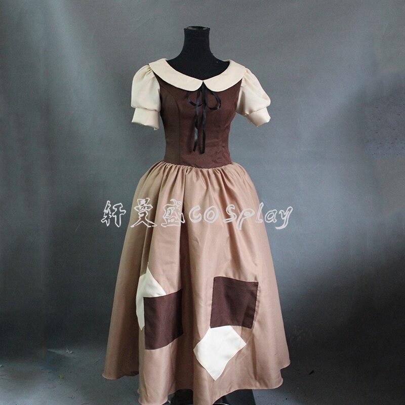 Animation Cinderella Princess Dress Cosplay Costume for Women Adults Halloween Costume