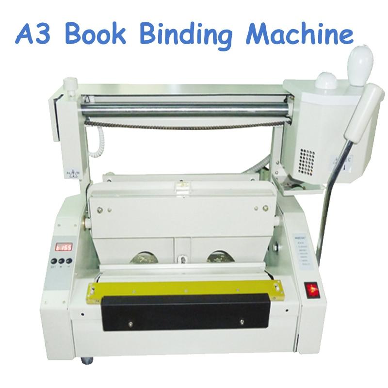 A3 máquina de encuadernación de libros de pegamento de escritorio 110 V/220 V RD-JB-3 de carpeta de electricidad