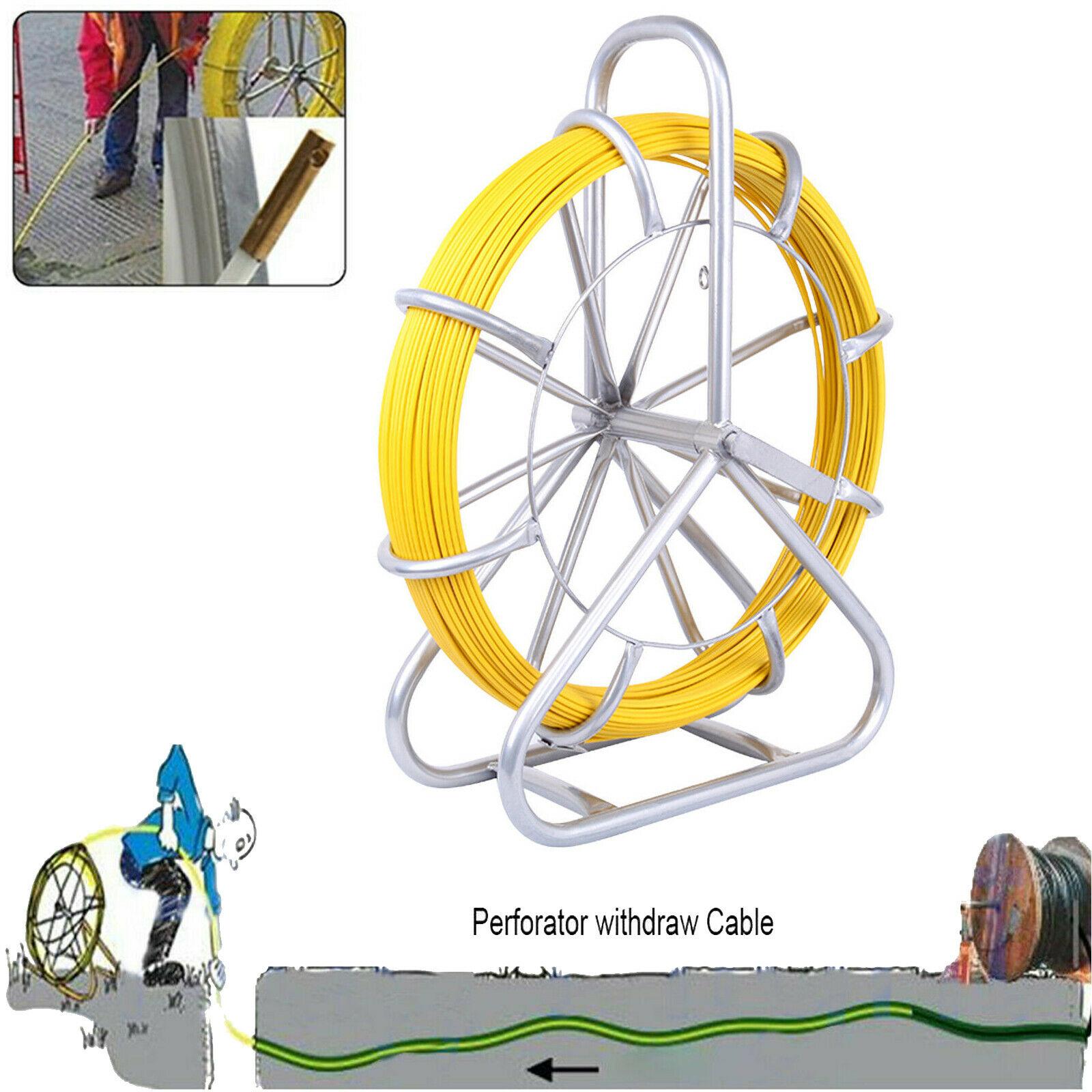 Yonntech-كابل الألياف الزجاجية ، 6 مللي متر ، 130 م ، قناة رود ، سحب كهربائي