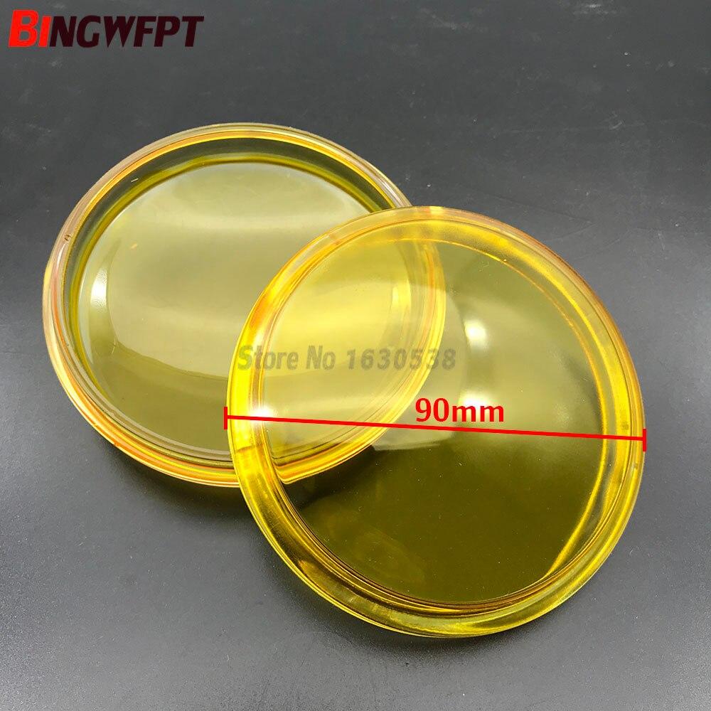 2 unids/set redonda diámetro 90mm niebla lámparas amarillo vidrio templado Anti-de cristal antiniebla para Suzuki SX4 Grand Vitara Alto Swift Ignis S-Cross