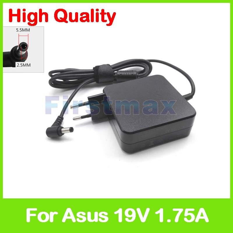 19 فولت 1.75A 33 واط محمول ac محول الطاقة شاحن ل Asus X551M X751MA X751NA X551MA X705NA X751SA X752MA X705MA x752SA الاتحاد الأوروبي التوصيل
