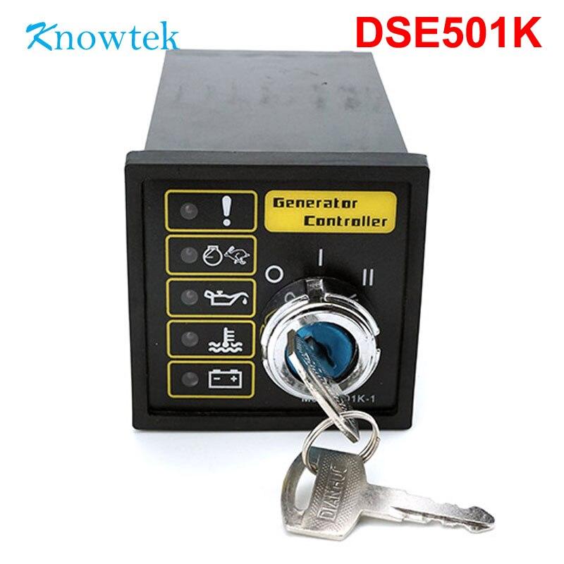 DSE 501K وحدة تحكم بالمولد DSE501K دليل مولد كهرباء بالبنزين مزود بمفتاح تشغيل يحل محل وحدة التحكم في المحرك DSE501