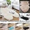 Tapis de sol lavable en fausse peau de mouton shaggy pour canapé coussins de cuisine fourrure de mouton décoration de maison D20