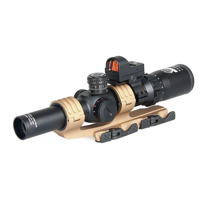 Прицел для винтовки Canis Latrans 2,5-10X26, с 1 красной точкой, 2 типа, для охоты на открытом воздухе, gs1-0345