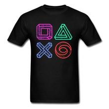 XBOX 게임 스테이션 컨트롤러 광학 환상 Tshirt 레인보우 비디오 게임 재미 T 셔츠 남자 가을 스웨터 큰 할인