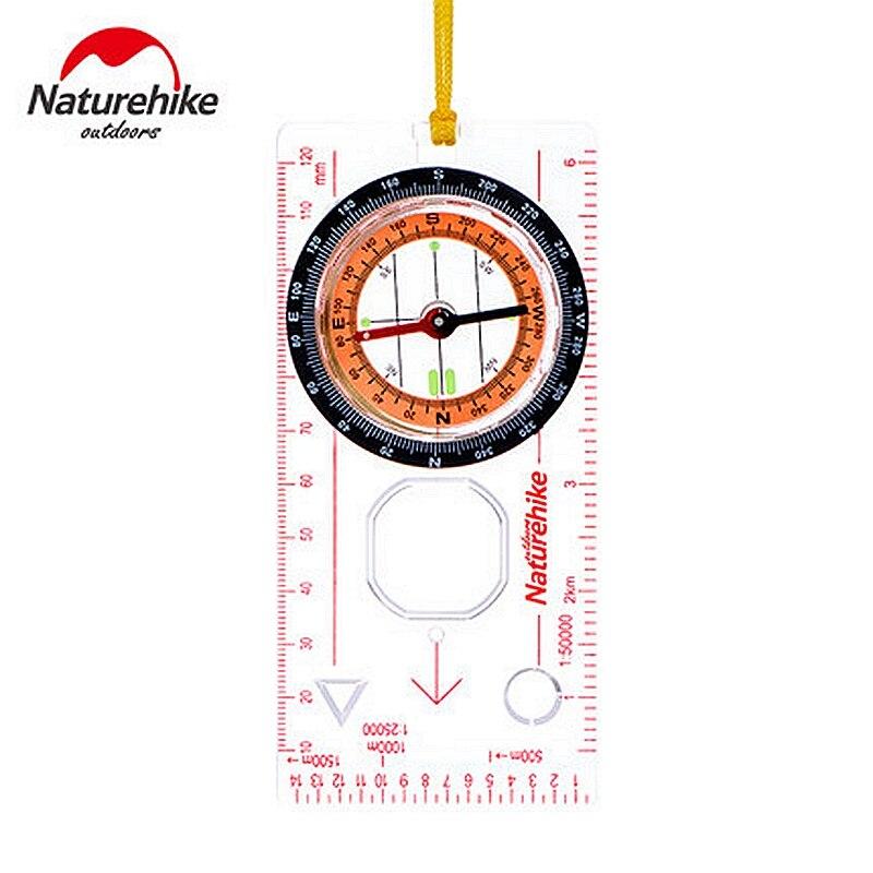 Туристический компас NatureHike, направляющий компас со шкалой