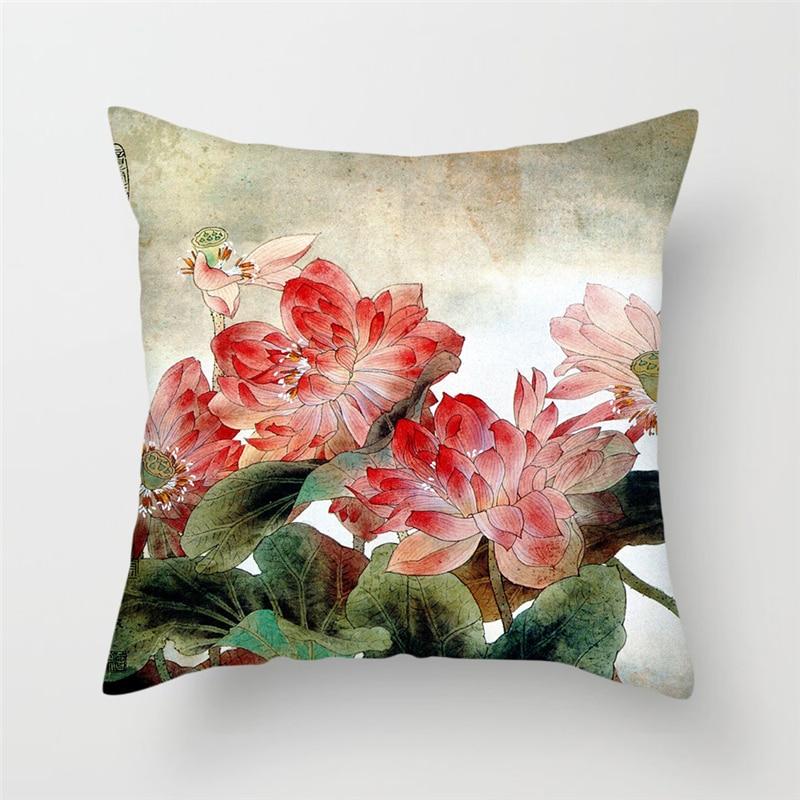 Наволочки на подушки Fuwatacchi в китайском стиле с цветами, наволочки на подушки, Наволочки для домашнего кресла, дивана, наволочки, 2019