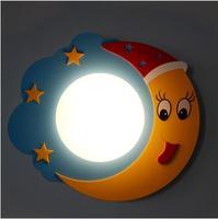 Pastoral star moon led cartoon wall lamp creative aisle children 's bedroom lamp bedroom bedside bed lighting TA9213