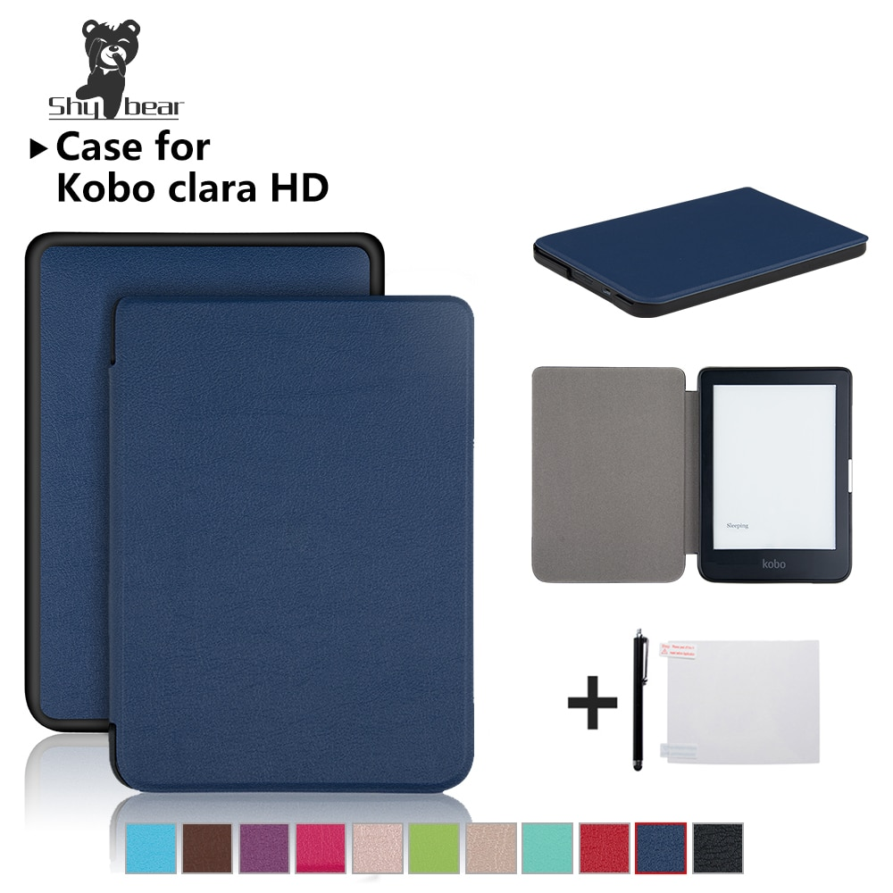 AliExpress - Magnetic Case For Kobo Clara HD 6 Inch PU Leather Ereader Smart Cover for Kobo N249 Auto Sleep and wake up Slim Lightweight