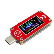 C64 color screen PD fast charge detection Type-C voltage ammeter volume temperature measurement tester