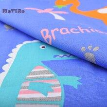 MoTiRo-mètre en coton sergé imprimé   Vêtements en tissu de bande dessinée de Dinasaur pour enfant, courtepointe, couture, feuille, oreiller, fait à la main, chemise