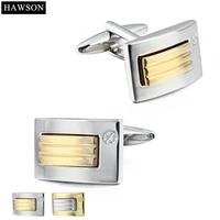 golden cufflinks for long sleeve shirt high quality cooper mens cuff links groomsmen wedding dress