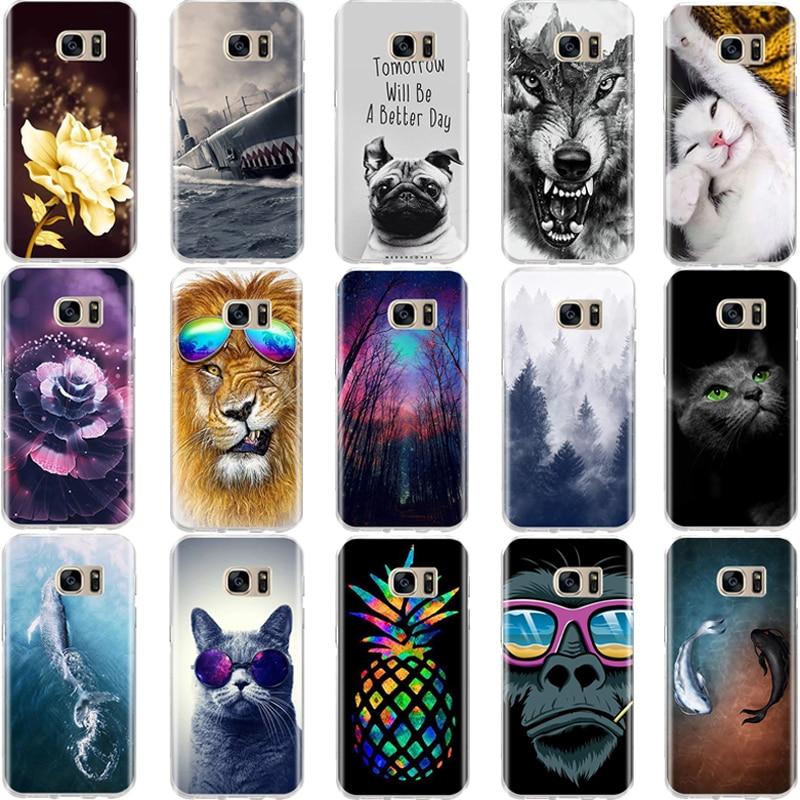 Für Samsung S6 S7 Rand Fall Weiche Silikon Abdeckung 3D Muster Nette Katze Fall Shell Für Samsung Galaxy S6 S7 s8 S 6 7 8 Telefon Fällen