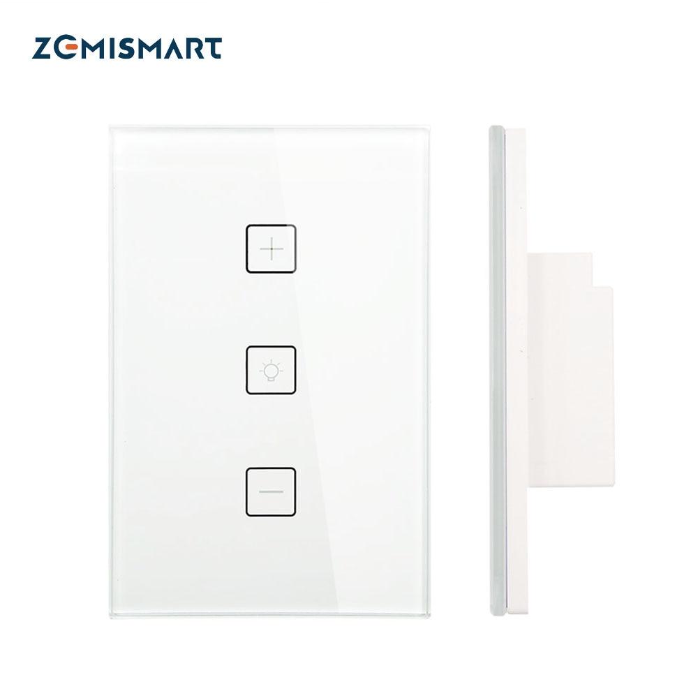 Zemismart-مفتاح باهتة يعمل باللمس ، US ، مع مؤقت ، تحكم أكثر إشراقًا ، أتمتة المنزل ، متوافق مع Alexa و Google Home
