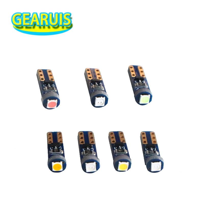 100 pcs T5 W3W 1 SMD 3030 Car Lâmpadas LED Canbus Erro Livre Painel de Instrumentos Velocímetro Tacho Calibre Cluster Lâmpada traço Lâmpada LED 12 V