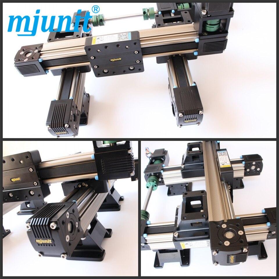 MJ45 حزام محرك السكك الحديدية دليل خطي مع مرحلة محور متعددة لجدول البلازما
