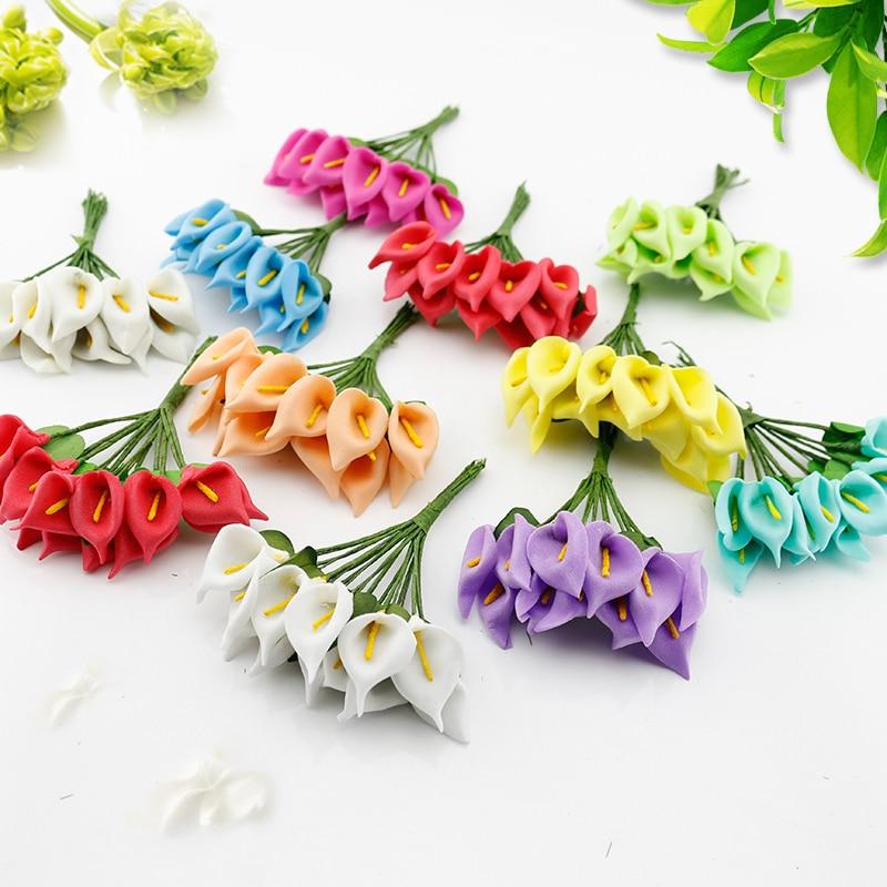 Мини-букет ручной работы, 12 шт., искусственный букет цветов из пены, Подарочная коробка для изготовления венков своими руками, скрапбукинга, ...