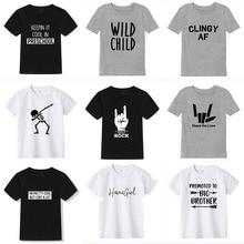 T-shirt manches courtes garçon   Marque de vêtements pour enfants, à la mode imprimé, en coton, nouvelle collection été 2019