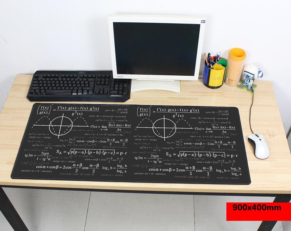 1200x500mm large Mouse Pad for Gaming Player desk laptop Rubber Mouse Mat mousepad Geometric formula & Blackboard pc padmouse