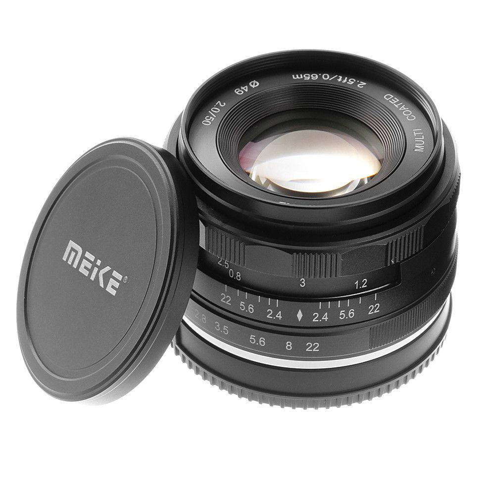 50mm F2 MF Foco Manual Lente Fixa Grande Abertura para Nikon 1 J5 J4 S2 V1 V2 V3 J1 câmera