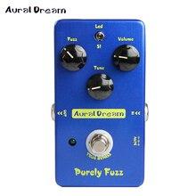 Aural Dream purement fuzz guitare électrique effets pédale copie fou professeur feu rouge Fuzz vrai contournement