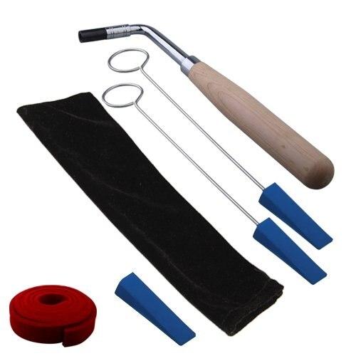 Cose martillo de sintonización de piano llave mudo Kit 6 uds herramientas + caso
