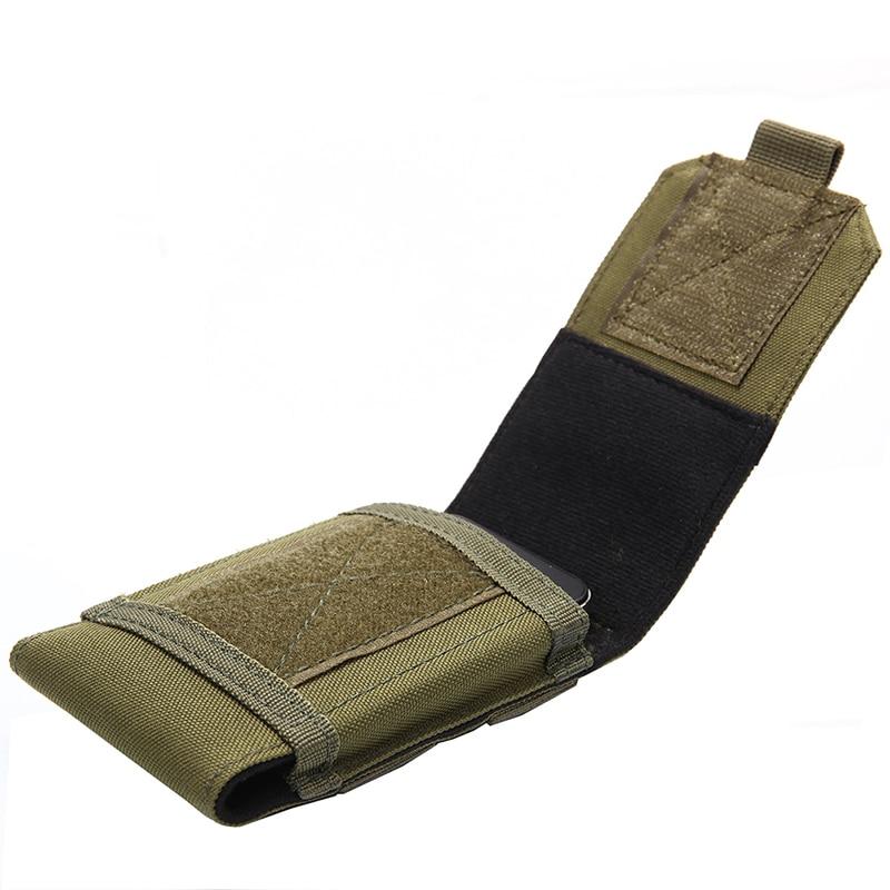 Exterior táctico Fondina MOLLE ejército camuflaje bolsa con cinturón de gancho funda móvil al aire libre