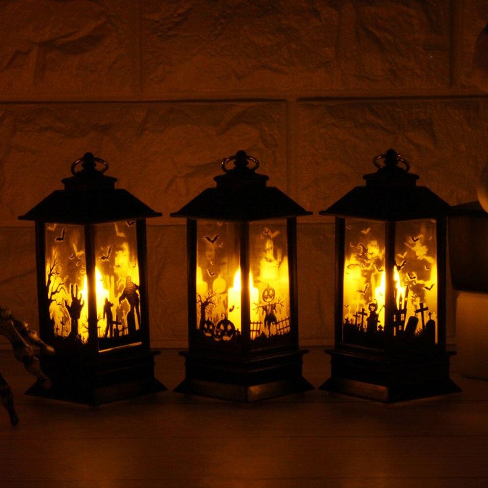 HIINST, vela mágica parpadeante de Halloween con velas de luz LED con forma de vela pequeña para decoración de Halloween, fiesta, 45 #, envío directo