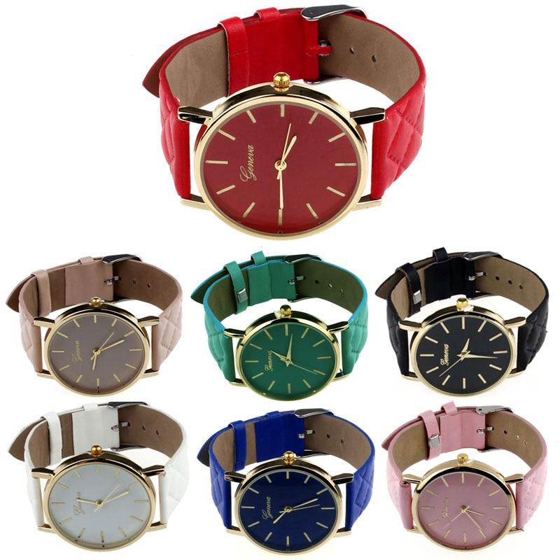 Women's Watch Solid Candy Color Quartz Wristwatch Analog Wristwatch Men Women  Bracelet Simple Relogios Feminino Dropship F515