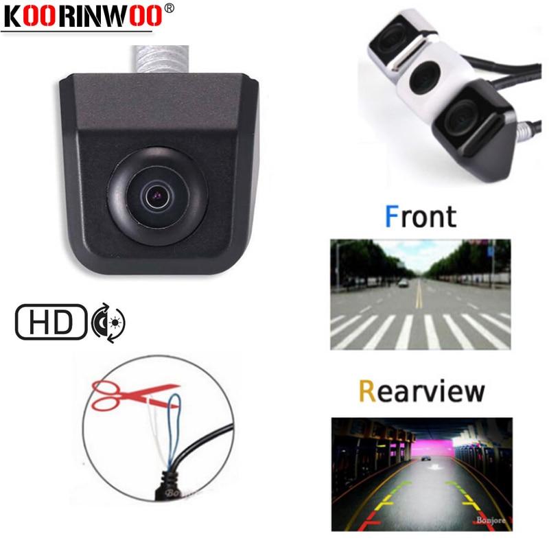 Koorinwoo Switching multifunción 2 Wire HD cámara frontal del coche del camión/vista lateral/trasera aparcamiento 580TV Sistema de marcha atrás IP68