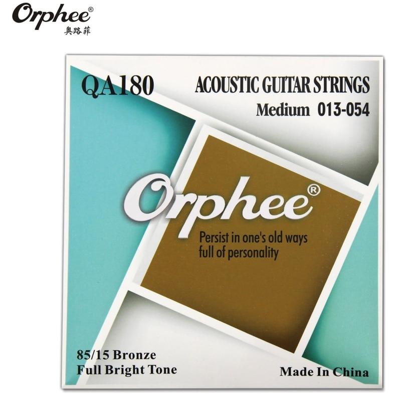 Orphee QA180 013-054 cuerdas de guitarra acústica 80/15 aleación Hexagonal de bronce envasado al vacío accesorios de guitarra piezas
