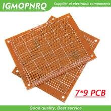 Prototipo de papel PCB Universal, placa de circuito de matriz de experimentos, 7x9cm, 7x9CM x 9CM, 5 uds.