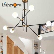 Lampe à suspension en forme de boule de verre pour chambre dhôtes-lampe à suspension moderne simple américaine avec haricots magiques