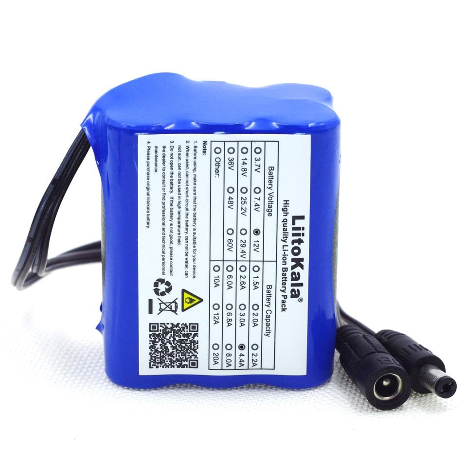 Аккумуляторные батареи LiitoKala, 12 В, 4,4 Ач, 4400 мА/ч, 18650, 12,6 В, защитная плата для PCB литиевых батарей