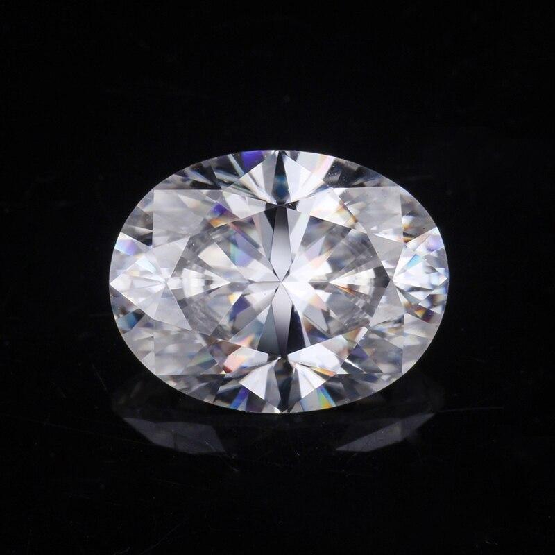 EF اللون VVS1 فضفاض Moissanites الماس 8*11 مللي متر الجليد سحق البيضاوي الشكل Moissanites مجوهرات مفككة الأحجار لصنع المجوهرات