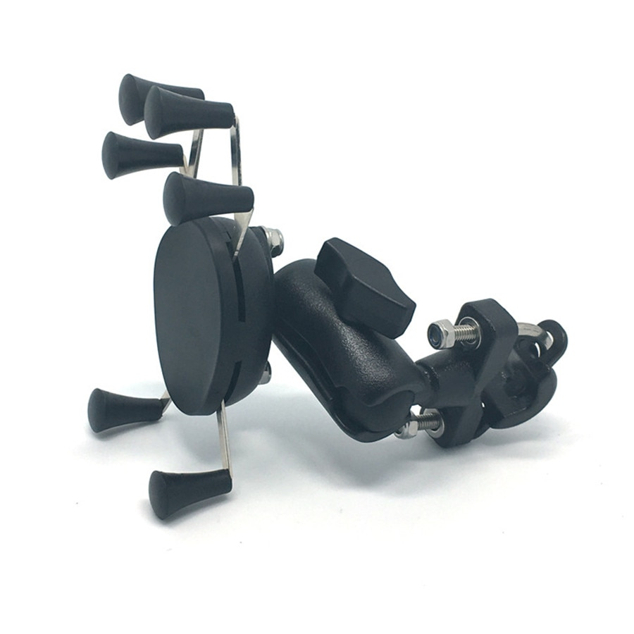 Soporte para teléfono de bola de manillar de motocicleta de 65mm soporte de agarre X de bicicleta para Gopro Smartphone soporte GPS