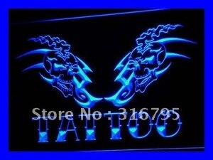 i555 Tattoo Shop NEWEST Display Bar LED Neon Light Light Signs On/Off Switch 20+ Colors 5 Sizes
