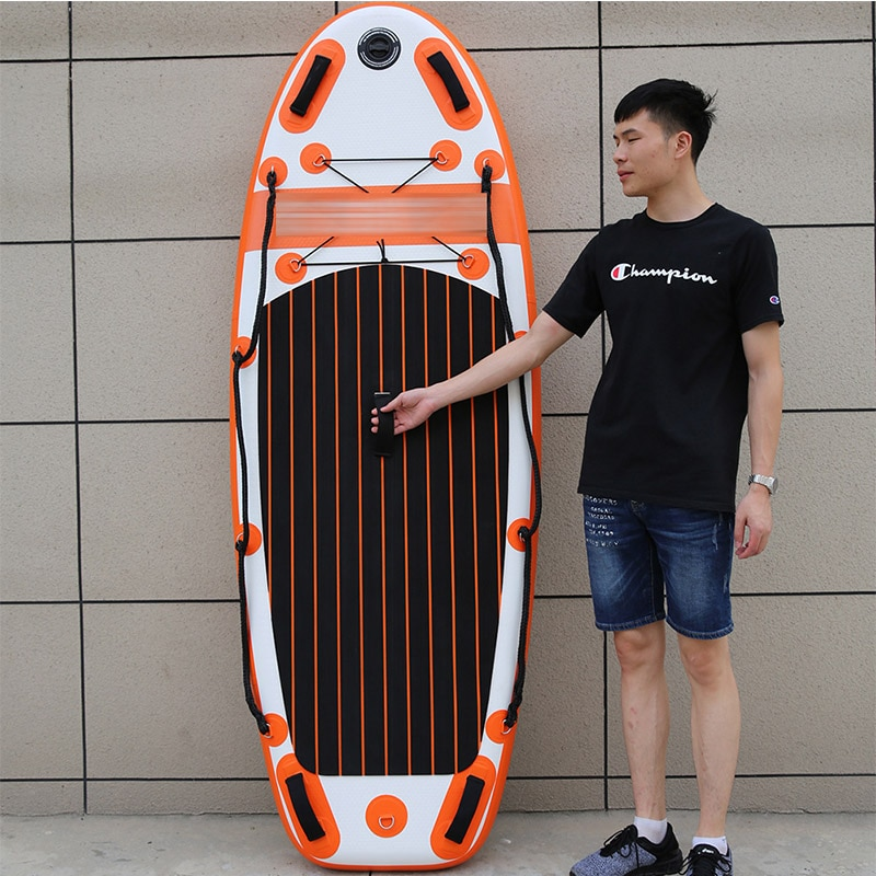 Flood prevention and rescue inflatable water surfboard standing waterboard paddle board set outdoor sports entertainment