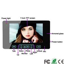 7 Inch Digital Wireless Video Door Phone Smart IP Video Intercom System Doorbell Camera Support Remote Unlock Touch Key
