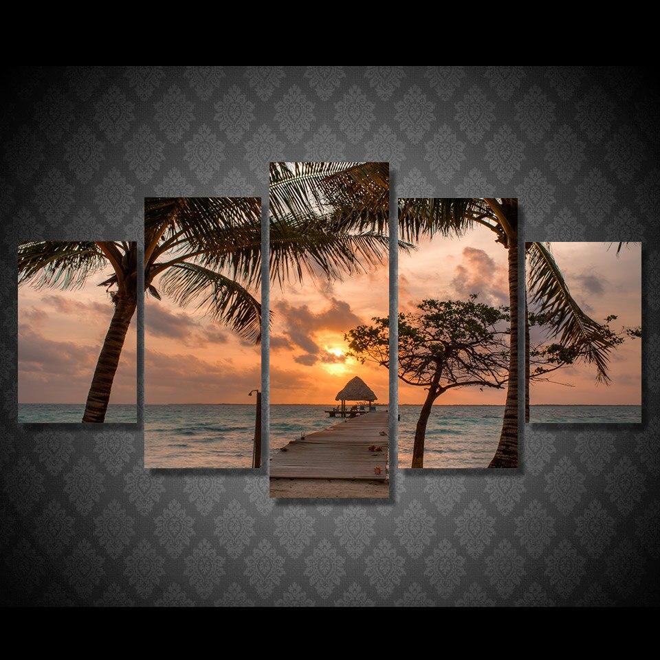 Impresión HD plyazh pesok palmy PIR nebo pintura lienzo impresión habitación decoración impresión cartel imagen lienzo envío gratis/ny-5010